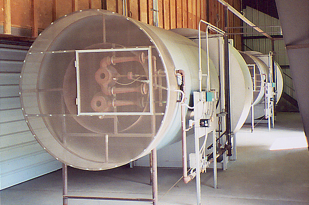 Kiln burner and fan
