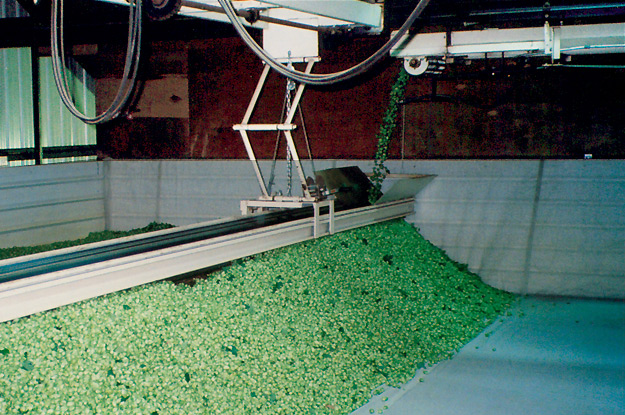 Hops filling drying bin